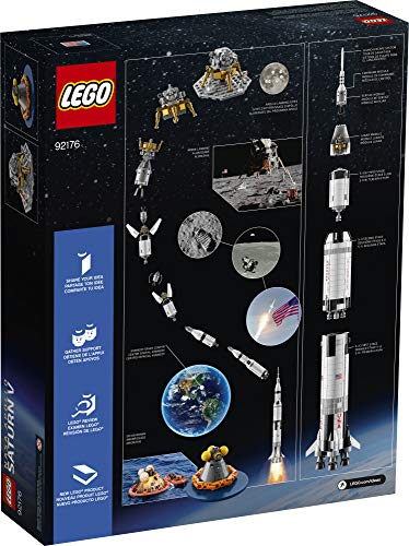 LEGO Ideas NASA Apollo Saturn V 92176 Outer Space Kit Product Image