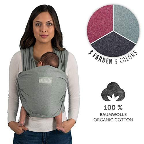 Laleni Fascia Porta Bebè, 100% Cotone Organico, Verde
