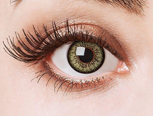 aricona Kontaktlinsen - Grüne Kontaktlinsen farbig ohne Stärke - Farbige Kontaktlinsen Augenlinsen Circle Lenses für größere Augen, 2 Stück