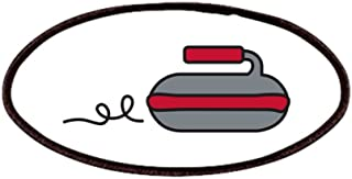 CafePress Curling Rock Patches Patch, 4x2in Printed Novelty Applique Patch
