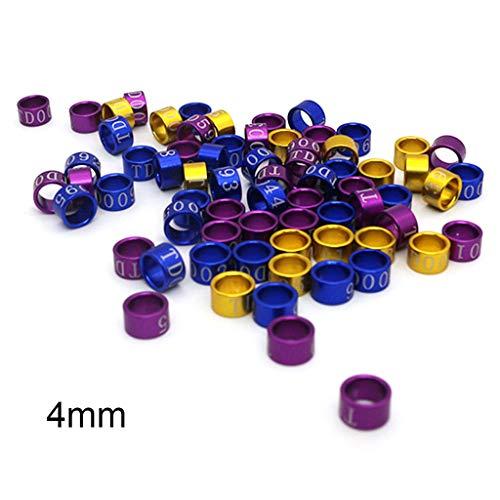 HOTPINK1 50 Stück Mix Color Bird Foot Ring, Bänder Clip Ringe für Pigeon Dove Chicks (3#)