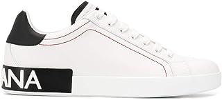 Luxury Fashion | Dolce E Gabbana Uomo CS1760AH52689697 Bianco Pelle Sneakers | Primavera-Estate 20