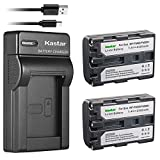 Kastar Battery X2 and Slim USB Charger for Sony NP-FM50, Sony HC1 TRV280 TRV350 TRV250 TRV19 TRV22 TRV27 TRV33 TRV460 TRV140 TRV17 TRV340 TRV38 TRV480 TRV260 TRV138 TRV608 DVD101 DVD201 CamcorderD1000