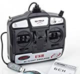 6CH USB RC Flight Simulator Airplane Helicopter