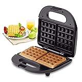 Maker Waffle Maker Maker Máquina de Hierro con Placas de cocción recubiertas sin Palo Fresco Touch Manijas-eléctrico en Luces indicadoras Listas WTZ012
