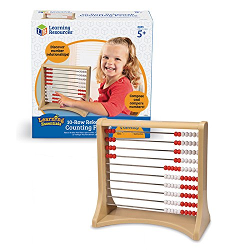 Learning Resources 10-Row Rekenrek Counting Frame, Abacus for Kids, Counting Toy for Kids, Math, Homeschool, Ages 5+