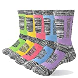 YUEDGE Calcetines Deportivos de Senderismo Termicos de Algodon Gruesos de Invierno para Mujer 5 Pack L