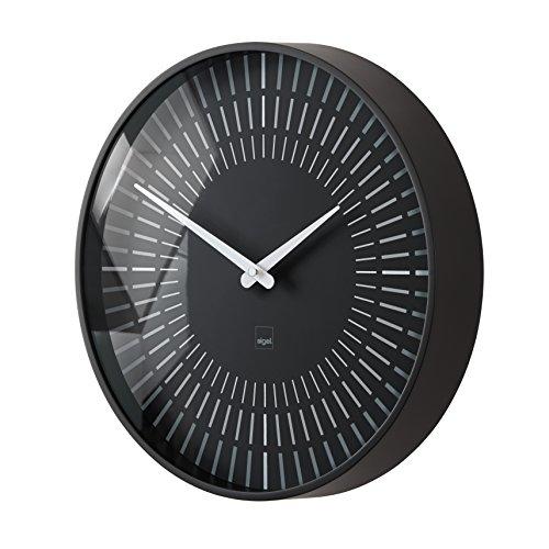 Sigel WU111 moderne, große Design-Wanduhr, Modell lox, schwarz, Ø 36 cm,  reddot design award 2014 Gewinner