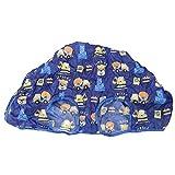 Coussin de couverture de panier d'achat de bébé 2-en-1, housses de siège réglables de chariot à achats de supermarché de bébé, tapis de couverture de chaise haute pour bébé enfants enfants(Bleu)