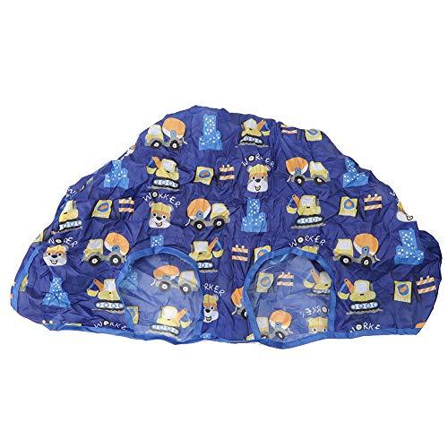 Funda para silla de bebé, herramientas de alimentación de color rosa para bebés, Pongee de poliéster azul portátil impermeable para alimentación de bebés de supermercado(Blue series)