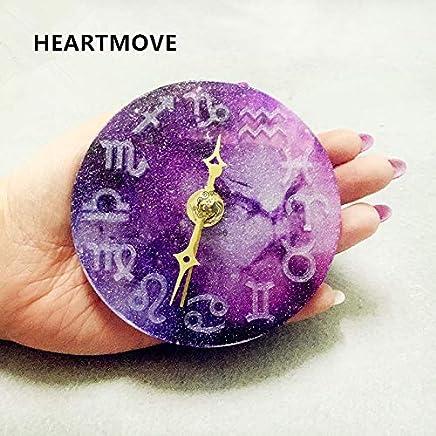 Laliva 12 muestras del zodiaco Reloj de silicona del molde DIY Resina epoxi reloj del molde de cristal del reloj silicome Molde reloj transparente del molde del silicón 9780