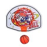 STOBOK Mini Canestro da Basket con Set di Canestro da Pallacanestro Sospeso a Parete con Pompa a Sfera con Tabellone Netto per Gioco da Interno per Bambini Regalo (Modello 1)