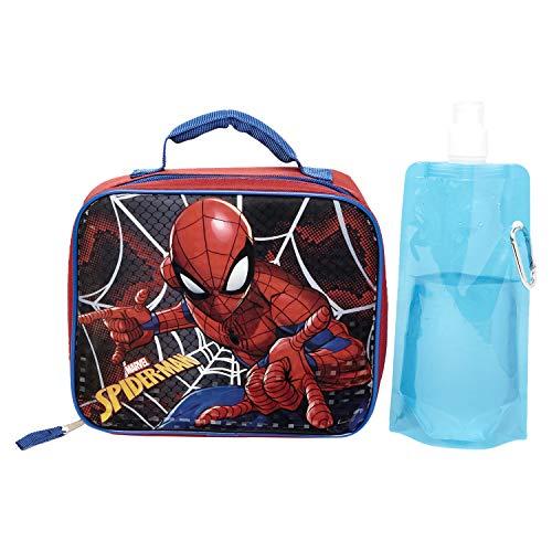 Marvel Spiderman Lunchbox Combo Set - Spiderman Boys 3 Piece Lunchbox Set -...