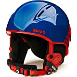Briko Kodiakino Casco de esquí/Snow, Juventud Unisex, Shiny Blue Red, 53-56 cm