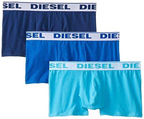 Diesel Herren Pack X 3 Boxershorts, hellblau/dunkelblau/Marine, M