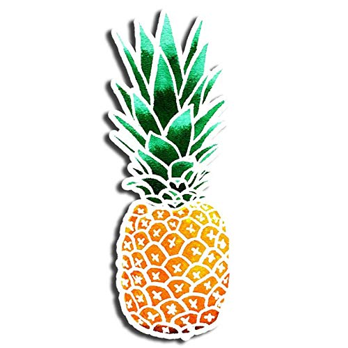Watercolor Pineapple Sticker Fruit Stickers Waterbottle Sticker Tumblr Stickers Laptop Stickers Vinyl Stickers