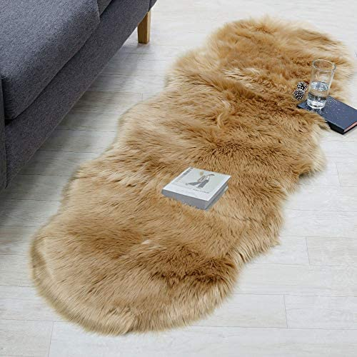 RosieLily Brown Rugs for Bedroom Brown Fur Rug Soft Fluffy Rug Furry Rug Faux Fur Rug Area Rug product image