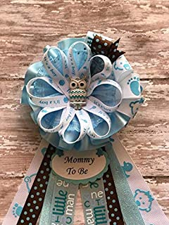 Baby Shower Corsage Pins - ANY NAME Set of 3 Custom Colors Personalized message seller with personalization and color choices