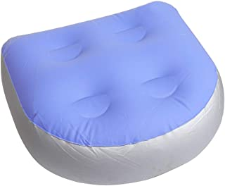 Spa and Hot Tub Booster Seat with Suction Cups,Inflatable Waterproof Bathtub Acupressure Massage Mat,Jacuzzi Pool Spa Seat Cushion,Back Spa Cushion Massage Mat Soft Inflatable Booster Seat