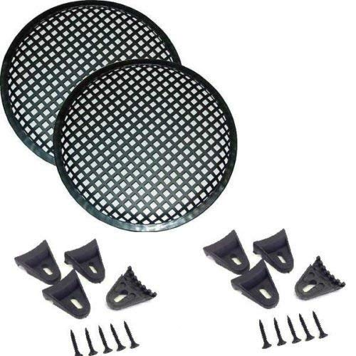 1 Pair 6.5' INCH Waffle Speaker SUB WOOFER Metal Grills with Clips and Screws DJ-CAR-Home