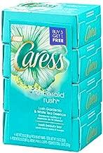 Caress Bar - Emerald Rush Lush Gardenia & White Tea Essence - 3.15 oz - 4 ct