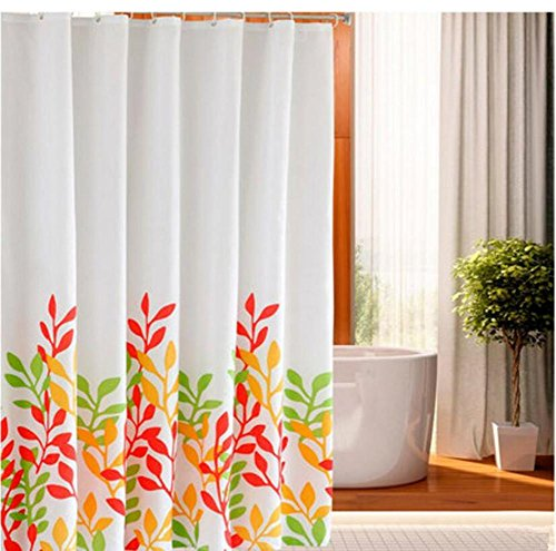 Douchegordijnen Polyester 3D Waterplanten Dikke Vorm Waterdichte Badkamer Gordijn Barrière Gordijnen Multi-size, met Haken