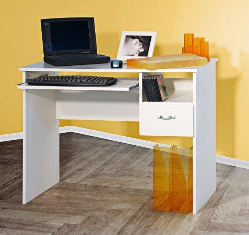 Schülerschreibtisch Computertisch PC-Tisch weiß 8049-1