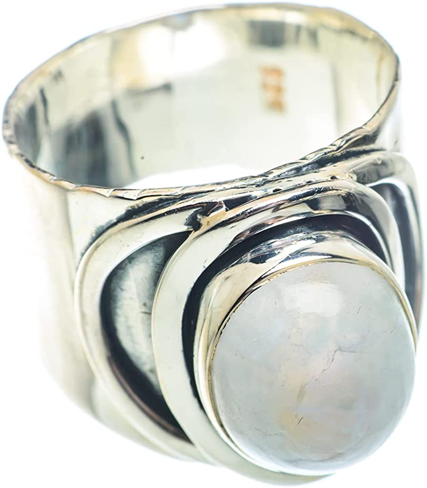 Ana Silver Co Rainbow Moonstone Ring Silv Max 68% OFF Size 925 8.5 Genuine Free Shipping Sterling