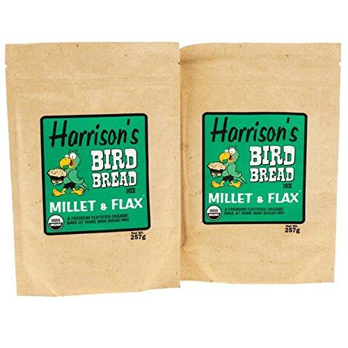 Harrison's Organic Bird Bread Parrot Treat Millet & Flax Mix (9.06oz/257g) PACK of 2