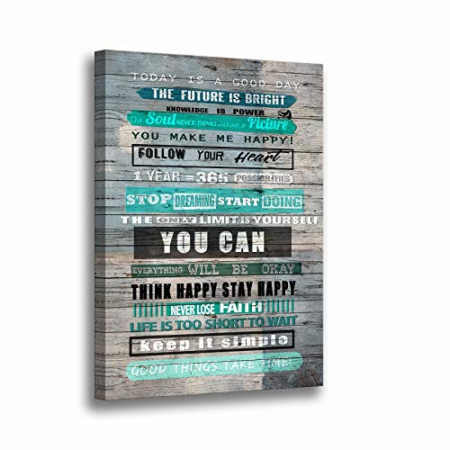 Inspirational Wall Art for Office Motivational Quotes Prints Wall Art for Living Room Bedroom Bathroom-Office Decor Artwork Gifts Size 12 x 16 inches