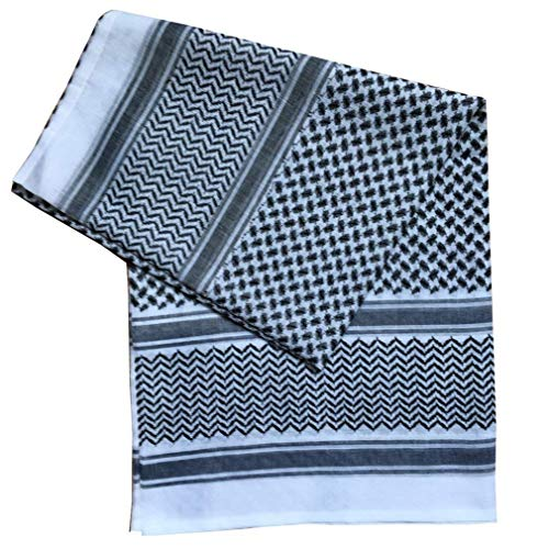Männer Muslim Schal Schal Turban Klassiker Fashion Bequeme Größen Ethno Style ArabisKopfschmuck Kleidung (Color : Schwarz, Size : One Size)