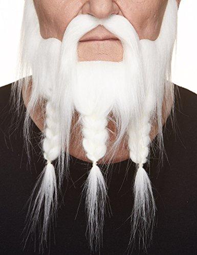 Mustaches Barba Bigote Blancos Trenzados Estilo capitán