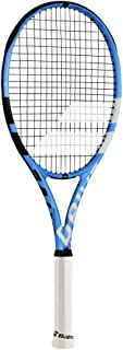 Babolat Pure Drive Lite Black/Blue/White Tennis Racquet (4 1/8 Grip) Strung with Natural Color String (Best Lightweight All-Court Racket)