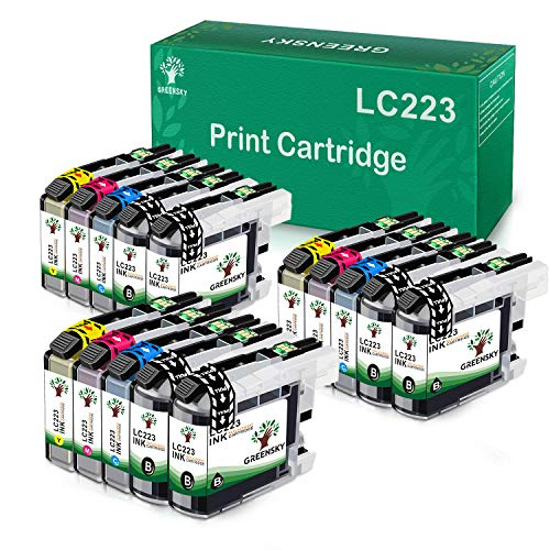 GREENSKY Reemplazo de Cartucho de Tinta Compatible para Brother LC223 LC223XL LC223 XL LC-223 for Brother MFC-J5320DW J5620DW J5720DW J5625DW J4625DW DCP-J4120DW DCP-J562DW (Paquete de 15)