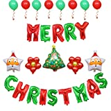 Vi.yo. Décoration Ballon De Noël Film Aluminium Ballons Joyeux Noël Lettre Bannière Étoile Ballon Père Noël Ballon Arbre Ballon De Noël Style 5