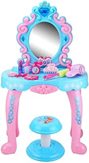 HUDEMR Coiffeuses de Chambre à Coucher Fille Hutte Princesse Dresser Toy Gros Petite enfance Puzzle Meubles pour Enfants (...