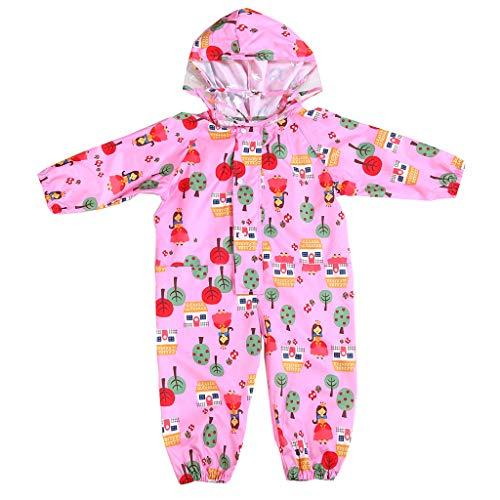 Vine Kids overol impermeable de una pieza para bebé (1 a 7 años), Rosado, S/For 1-3 Years