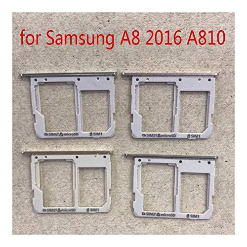 Buen estado Adaptador de tarjeta SIM For Samsung A810 A8 2016 Galaxy A810F A810S A810YZ teléfono original bandeja de tarjeta SD Micro Vivienda Nueva ranura del sostenedor Tarjetas. ( Color : Black )