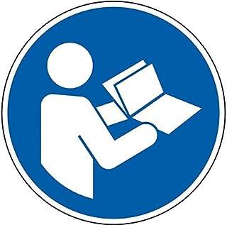 LEMAX Gebotsschild Anleitung beachten, ISO, Folie, selbstklebend, Durchmesser 50mm, 10/Bogen