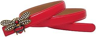 Nuevo estilo occidental, rojo, rojo, cuero, dama, cinturón, hebilla, hebilla, cinturón, moda, falda, correas
