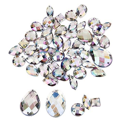 P Prettyia 50 Unidades Botones Cristal Botones de Costura para Manualidades, 8-24 mm
