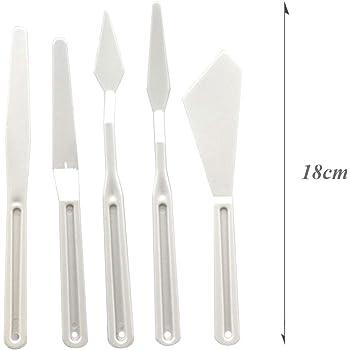 Pack de 6 juegos de 5 espátulas cuchillos, para paleta de pintura. Accesorios de Pintura al óleo Mezcla de Colores.: Amazon.es: Hogar