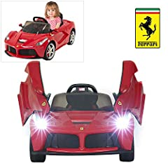 One Button Start Up & Engine Sounds & MP3 connectivity Latest Model With Adjustable Leather Seatbelt, Led Headlight & Turning Light& Taillight. Move Forward/Backward, Turn Right/Left, Brake Freely.The Door Can be Opened Manually 1Pcs Lead-Acid Rechar...