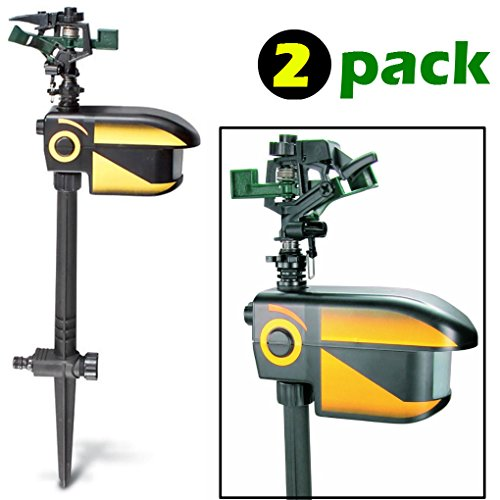 ScareCrow Motion-Activated Animal Deterrent - 2 pack - Sprinkler Spray Electronic Pest Repellent Control