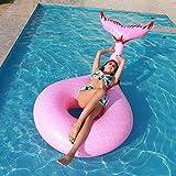 No branded Pool Float Mermaid Tail Shape aufblasbare Schwimmen Kreis Potenzialfrei Bett Wasser Sitz...