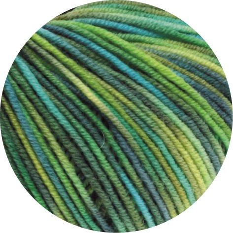 Lana Grossa Cool Wool Print 784 - Hellgrün/Apfelgrün/Dunkelgrün/Türkis/
