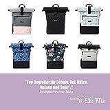 Ela Mo's Rucksack Damen | Schön und Durchdacht | für Uni Reisen Freizeit Job | mit Laptopfach & Anti Diebstahl Tasche | Blumen - 7