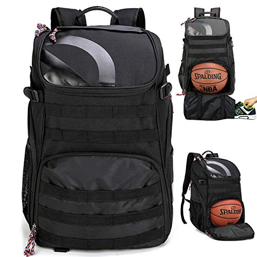 TRAILKICKER 35L Soccer Backpack with Attachable Shoe Bag and Ball Compartment, Sports Backpack for...