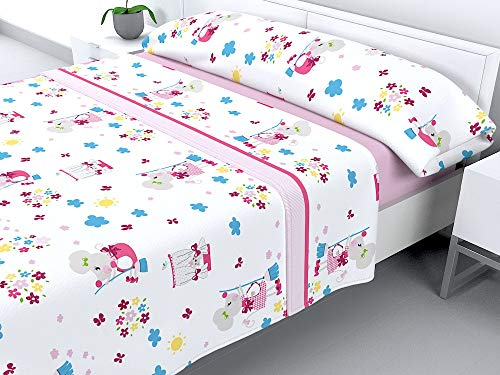 Cabello Textil Hogar - Juego de sábanas Infantiles de coralina con 3 Piezas Extremadamente Suaves y cálidas Mod. RATONA...