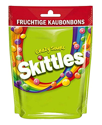 Skittles Crazy Sours Beutel (160 g)
